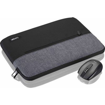 "LOGIK 13"" Laptop Sleeve & Mouse Bundle - Black & Grey"