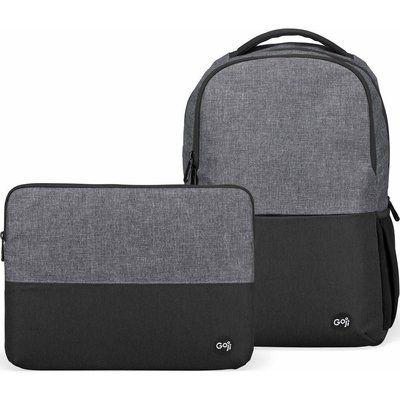 "GOJI G14SLBP20 12.9"" iPad Pro Backpack & 14"" Laptop Sleeve Bundle - Black & Grey"