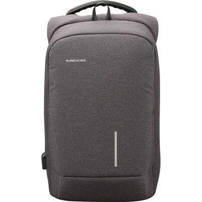 "KINGSONS KS3149W-DG 153 15.6"" Laptop Backpack - Dark Grey"