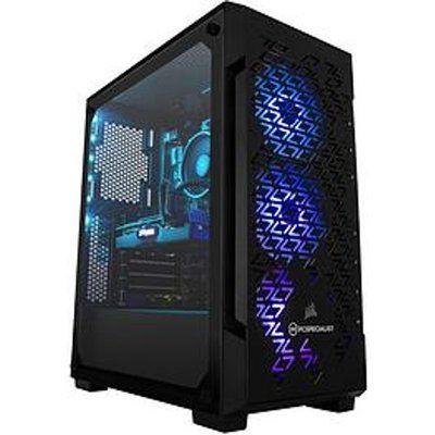 PC Specialist Fusion SEI Gaming Desktop PC - RTX 3070, Amd Ryzen 5, 16GB RAM, 512GB SSD & 2TB Hard Drive - Black