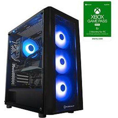 PC Specialist Cypher GXR Gaming PC - Geforce RTX 3060, Intel Core i5, 16GB RAM, 512GB SSD & 1TB HDD