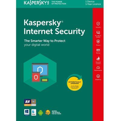 Kaspersky Internet Security 2018 - 1 year for 1 device