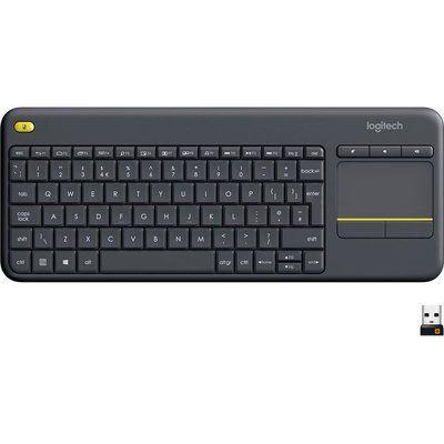 Logitech Wireless Touch Keyboard K400 Plus QWERTY UK Layout Black