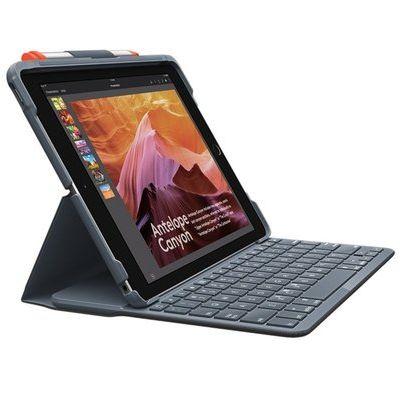 """Logitech Slim Folio Case with Bluetooth Keyboard for iPad 10.2"""" 7"""