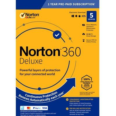 Norton 360 Deluxe 2019 - 1 year for 5 devices