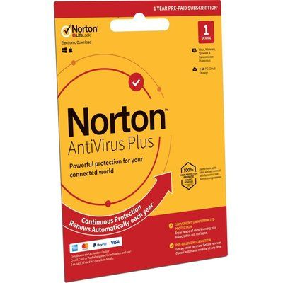 Norton AntiVirus Plus 2019 - 1 year for 1 device