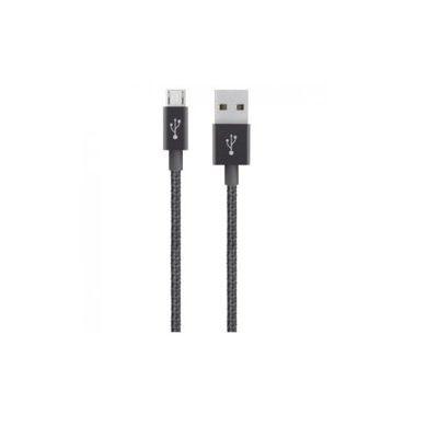 Belkin Black Metallic 1.2M Micro-USB to USB Cable