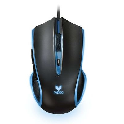 Rapoo V20S Optical Wired Gaming Mouse - Black