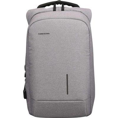 "KINGSONS KS3149W-LG 15.6"" Laptop Backpack - Light Grey"