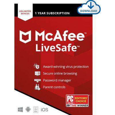 McAfee LiveSafe Digital Download for Unlimited Devices