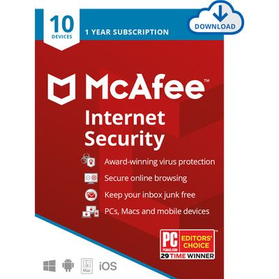 McAfee LiveSafe Digital Download for 10 Devices