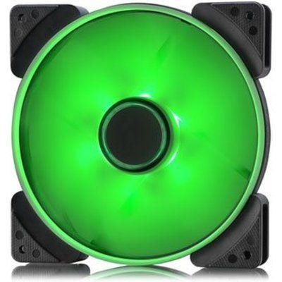 Fractal Design 140mm Green LED Prisma SL-14 3-pin DC PC Cooling Fan