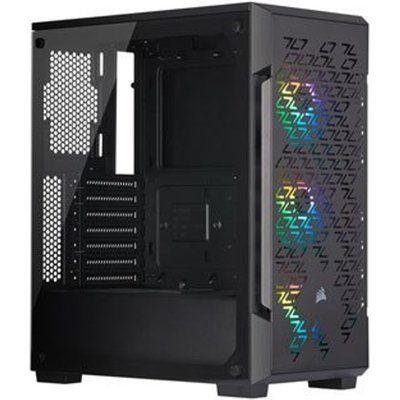 Corsair Black iCUE 220T Addressable RGB Airflow Midi PC Gaming Case