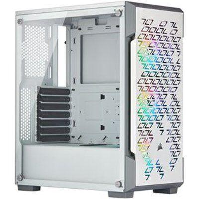 Corsair White iCUE 220T Addressable RGB Airflow Midi PC Gaming Case