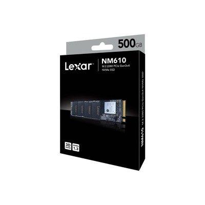 Lexar Media Lexar(R) NM610 M.2 2280 NVMe 500GB Ssd