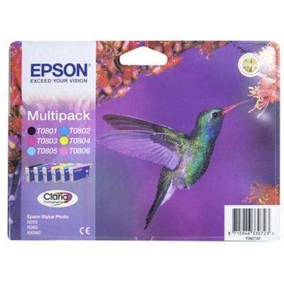 Epson Hummingbird T0807 6-colour Ink Cartridges - Multipack, Cyan