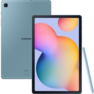 """Samsung Galaxy Tab S6 Lite 10.4"""" 4G Tablet- 64 GB, Angora Blue"""