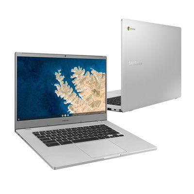 "Samsung 4+ 15.6"" Celeron 4GB 32GB Chromebook Platinum Titan"