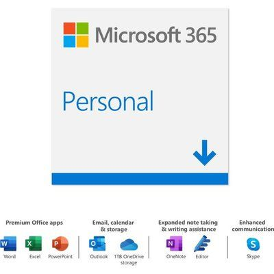 Microsoft 365 Personal Digital Download for 1 User - Annual Subscription