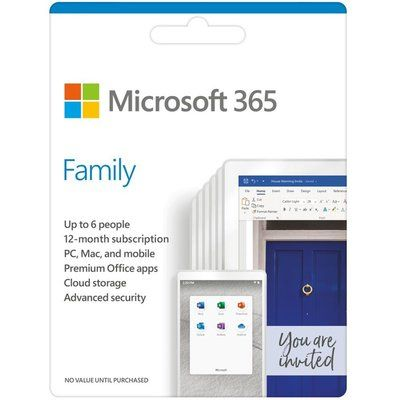 Microsoft Office 365 Family - 1 year for 6 users