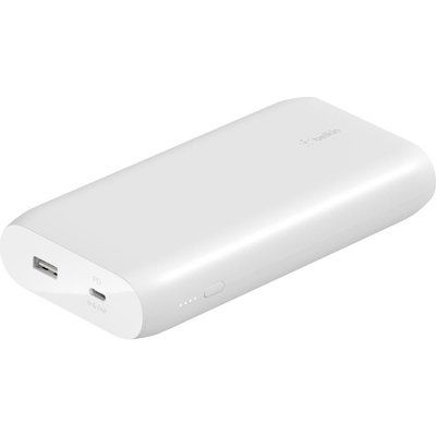 Belkin 20000 mAh Portable Power Bank with 30 W USB-C Fast Charge - White