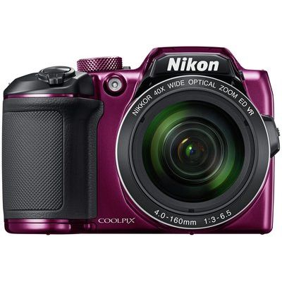 Nikon B500 16MP 40x Zoom Bridge Camera - Plum