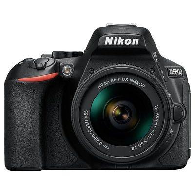 Nikon D5600 DSLR Camera with 18-55 mm f/3.5-5.6 Standard Zoom Lens - Black