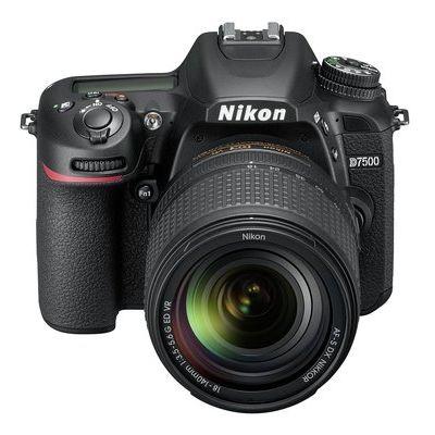 Nikon D7500 DSLR Camera with 18-40 mm f/3.5-5.6G ED VR Lens - Black