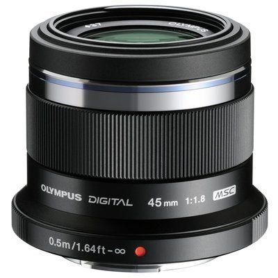 Olympus M.Zuiko Digital 45mm 1:1.8 / ET-M4518 Camera Lens for Olympus PEN - Black
