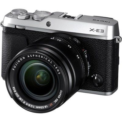 Fujifilm X-E3 Mirrorless Camera with XF 18-55 mm f/2.8-4 Lens - Silver
