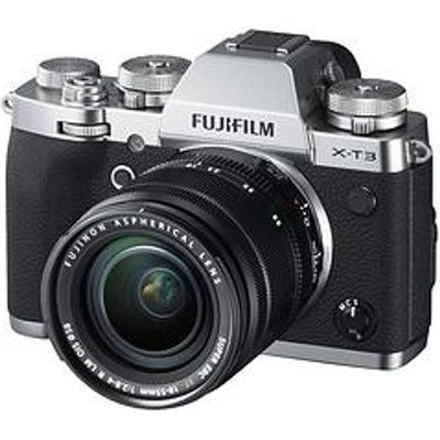Fujifilm X-T3 Mirrorless Camera with FUJINON XF 18-55 mm f/2.8-4 R LM OIS Lens - Silver