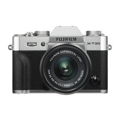 Fujifilm X-T30 Mirrorless Camera with FUJINON XC 15-45 mm f/3.5-5.6 OIS PZ Lens - Silver