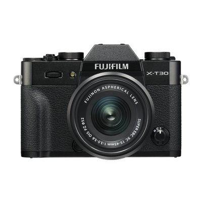 Fujifilm X-T30 Camera XC 15-45mm Lens Kit - Black