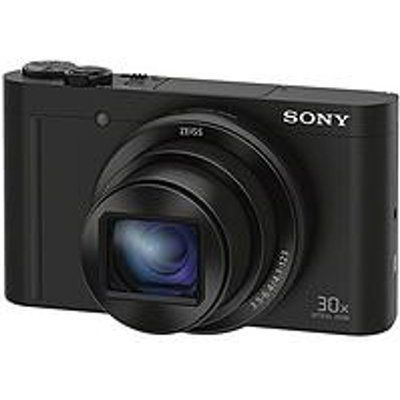 Sony Cybershot DSC WX500 18.2 MP 30X Zoom Digital Compact Camera With Selfie Screen - Black
