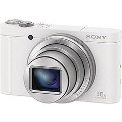 Sony DSC WX500 Cybershot 18.2 MP 30X Zoom Digital Compact Camera - White