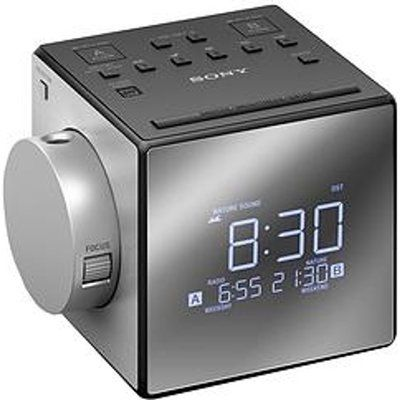 Sony ICF-C1PJ Portable Analogue Clock Radio - Silver