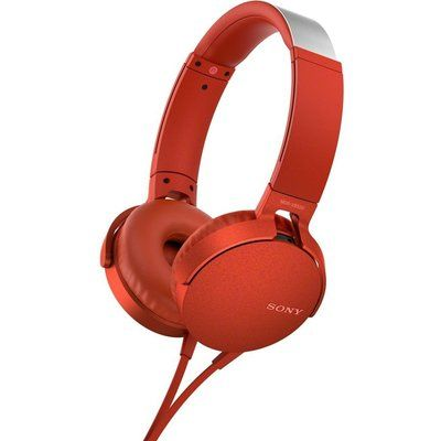 Sony Extra Bass MDR-XB550AP Headphones - Red