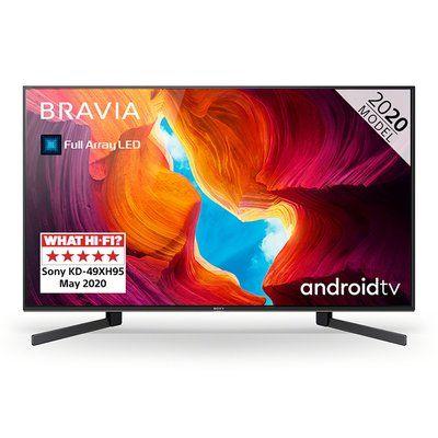 "Sony 49"" BRAVIA KD-49XH9505BU Smart 4K Ultra HD HDR LED TV with Google Assistant"