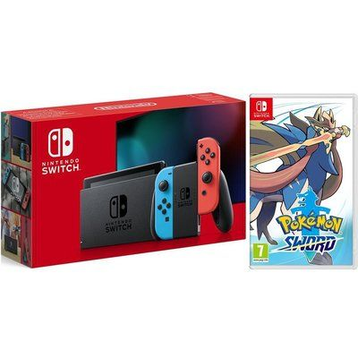 Nintendo Switch 1.1 with Neon Blue / Neon Red Joy-Con Controllers