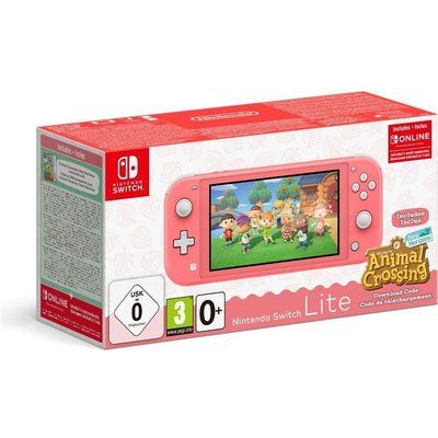 Nintendo Switch Lite Coral & Animal Crossing: New Horizons Bundle, Coral