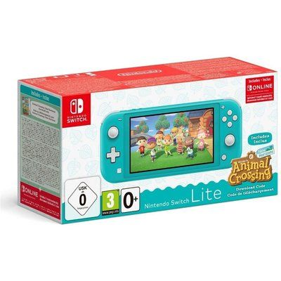 Nintendo Switch Lite Turquoise & Animal Crossing: New Horizons Bundle