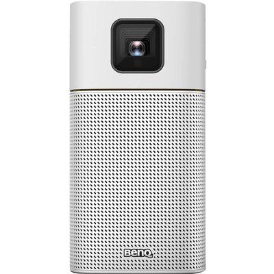 BenQ GV1 Portable Projector with Battery, WiFi and Bluetooth Speaker - White