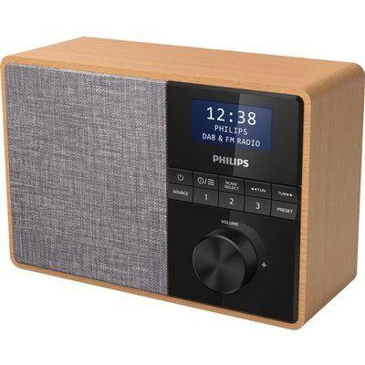 Philips TAR5505/10 Portable DAB Bluetooth Radio - Light Wood