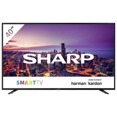 """Sharp 40"""" 4T-C40BJ4KF2FB Smart 4K UHD HDR LED Freeview TV"""