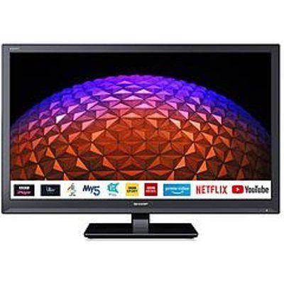 """Sharp 24BC0K 24"""" HD Ready LED Smart TV - Black"""