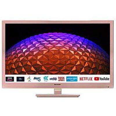 "Sharp 24BC0KR 24"" HD Ready LED Smart TV - Rose Gold"