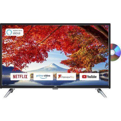 "JVC 32"" LT-32C705 Smart Full HD LED TV with Built-in DVD Player"