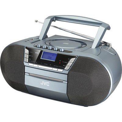 JVC RC-D327B DAB/FM Bluetooth Boombox - Grey