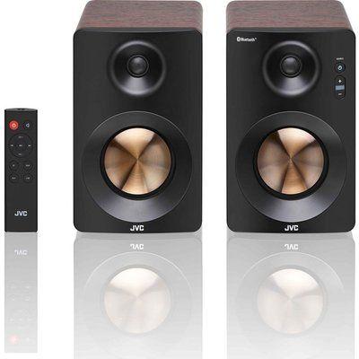 JVC XS-D629BM 2.0 Bluetooth Bookshelf Speakers - Walnut