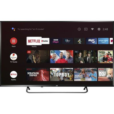 """JVC 50"""" LT-50CA890 Android TV Smart 4K Ultra HD HDR LED TV with Google Assistant"""